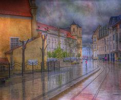 Slovakia Art - Bratislava Downtown  by Juli Scalzi