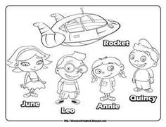 Little Einsteins Coloring Pages for cade's graduation party from daycare to preschool