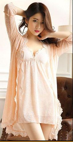 Women's Sleepwear Twinset Spaghetti Strap Belt Pad Lace Princess Style for Spring Autumn The Effective Pictures We Offer You About autumn outfits women h&m A quality picture can tell you many things. Pretty Asian Girl, Cute Asian Girls, Beautiful Asian Women, Night Wear Dress, Night Gown, School Girl Fancy Dress, Pijamas Women, Sleepwear Women, Women's Sleepwear