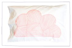 Hand printed 100% cotton pillowcase using water based inks. Made in Australia.