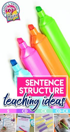 Ideas for scaffolding sentence structure lessons to make them memorable and effective #MiddleSchool #HighSchool #GrammarLessons #EngagingELA