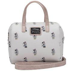b3a23108bab0 BOLSO MINNIE BLANCO DISNEY LOUNGEFLY - Chysca Disney Handbags