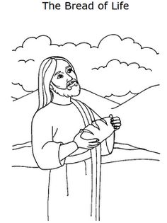 Jesus Broke The Bread Bible Coloring Pages