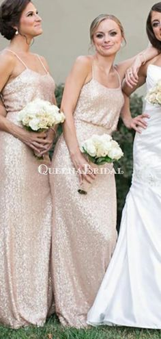 Spaghetti Straps Cheap Long Sequin Gold Bridesmaid Dresses With Sleeve – QueenaBridal #bridesmaid#bridesmaiddresses#longbridesmaiddresses#wedding#2020bridesmaiddresses#simplebridesmaiddresses#cheapbridesmaiddresses#modestbridesmaiddresses#bridesmaiddressesmismatched#bohobridesmaiddress Champagne Bridesmaid Dresses, Bridesmaid Dresses With Sleeves, Gold Bridesmaids, Wedding Dresses, Maid Of Honour Dresses, Maid Of Honor, Spaghetti Strap Dresses, Spaghetti Straps, Pink Wedding Colors