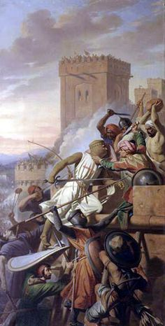 Capture of Marra (1098). The Knight Templar is a definite anachronism.