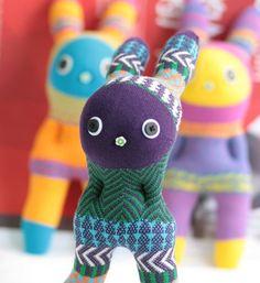 Handmade bohemia bunny stuffed animal