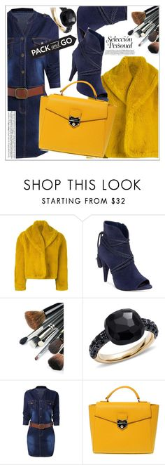 """""""Denim dress"""" by ucetmal-1 ❤ liked on Polyvore featuring Jean-Paul Gaultier, Vince Camuto, Pomellato and POMIKAKI"""