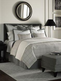 Black, Grey, White: Icy Bedrooms - contemporary - bedroom -