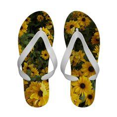 Field of Yellow Flip Flops