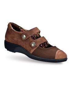 Look at this #zulilyfind! Brown Nikodia Leather Mary Jane by Gravity Defyer #zulilyfinds