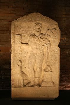 Altar decorated with a bas-relief depicting the god Sylvanus Capitoline Museums in Rome.
