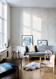 decoración salón estilo nórdico lamiacasadecor.blogspot.com