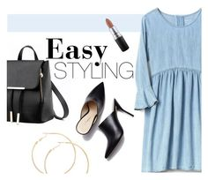 """Easy STYLING"" by ddalginanabeauty ❤ liked on Polyvore featuring MAC Cosmetics"
