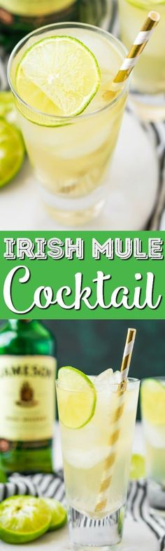 This Irish Mule Cocktail is a bright mix of smooth Irish whiskey, zesty ginger beer, and tart lime juice and it's sure to make you want to dance this St. Patrick's Day! #stpatricksday #irish #whiskey #cocktails #lime
