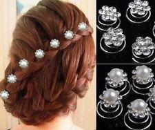 Set 12 Curlies Haarspiralen Braut Hochzeit Kommunion Haarnadeln Haarschmuck NEU