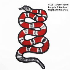 1pcs Snake Patch Embroidery Patch Embroidery Snake by EsonfashionI