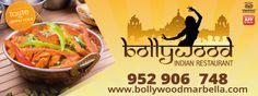 Diseño valla publicitaria para restaurante Bollywood