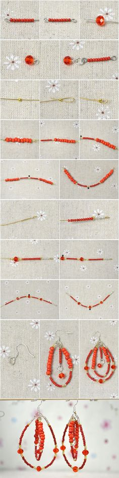 Illustrated Instructions on Making Native American Beaded Hoop Earrings from LC.Pandahall.com