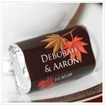 Personalized HERSHEY'S MINIATURES® Chocolates - Fall For Love: ForeverWed, Wedding Favors