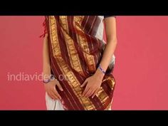 How to wear a Gadwal saree in Tamil Telugu brahmin style, India