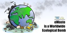 eWaste is a Worldwide Ecological Bomb The World today is filled with million tonnes of #eWaste , which includes a large amount of electronic waste that have reached the end of their life cycle and now are required to be disposed. Year by year the figure is increasing tremendously as compared to the statistics of the previous year.