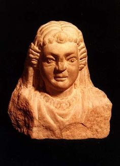 Bust of a Parthian princess in Susa in the southwest of Iran: