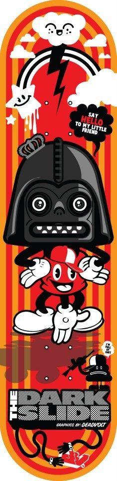 """The Dark Slide Skateboards Vader Mouse Deck graphics by DeadVolt 8"""" x 31"""""""