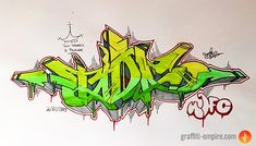 Graffiti fill in and color combination example: green and red. Good article about color fill combinations and great shape in the piece. Graffiti Piece, Graffiti Words, Graffiti Tagging, Graffiti Drawing, Graffiti Lettering, Art Drawings, Typography, Graffiti Wildstyle, Street Art Graffiti