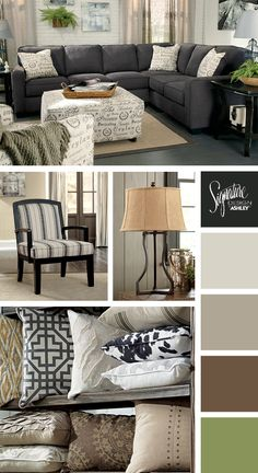 Love how the lighter tones compliment the softer charcoal palette ...