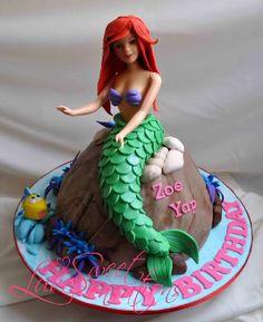 little mermaid cake 3d - Google Search