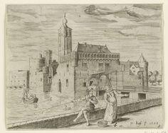 Het kasteel Aldegonde, Pieter Bast, Claes Jansz. Visscher (II), 1598