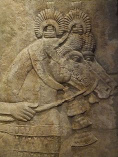 Royal Horses depicted in Relief from the palace of King Sargon II in his capital city of Dur-Sharrukin (Modern Khorsabad)