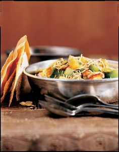 Papaya-Kiwi Chaat with Pistachios
