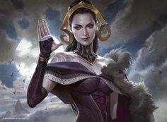 Oath of Liliana MtG Art by Wesley Burt