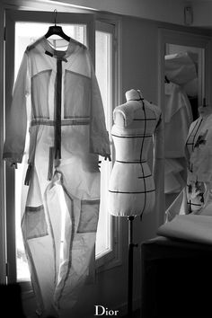 Conception of the flight a la française theme in the Dior couture ateliers in Paris before the AW14-15 show.