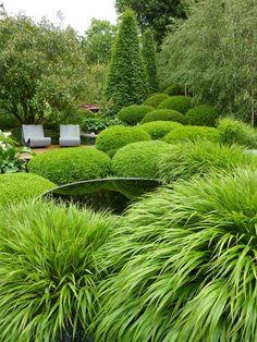 Diarmuid Gavin's Irish Sky Garden, beautiful use of Box and soft textures