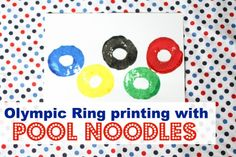 Olympic Ring Printing with Pool Noodles