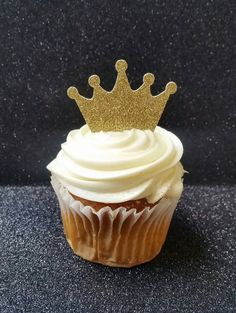 Crown Cupcake Toppers Princess Cupcake Toppers by PoshPartyBistro