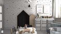 Pokoik trzyletniej Liwii - Mały pokój dziecka dla chłopca dla dziewczynki dla malucha, styl skandynawski - zdjęcie od Designbox Marta Bednarska-Małek