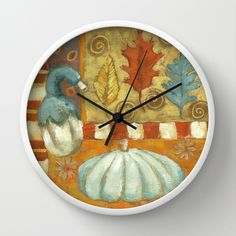Jarrahdale Pumpkin Wall Clock