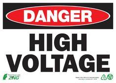 Sign, Danger High Voltage, 10x14, Plastic