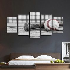 Baseball Practice Pop Multi Panel Canvas Wall Art by ElephantStock is printed using High-Quality materials for an elegant finish. We are the specialists in Modern Décor canvas prints and we offer 30 day Money Back Guarantee Boys Baseball Bedroom, Baseball Room Decor, Sports Room Decor, Boy Sports Bedroom, Boys Room Decor, Boy Wall Decor, Vintage Baseball Nursery, Baseball Boys, Baseball Players