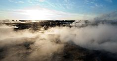 Due to the location of Iceland and the volcanic activity, Iceland is blessed with abundance of geothermal energy. Read about it - Iceland Geothermal Energy. http://www.trip-to-iceland.com/what-to-do-and-see/iceland-geothermal-energy/