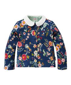 Look at this Oilily Blue Floral Tola Cardigan - Infant, Toddler & Girls on #zulily today!