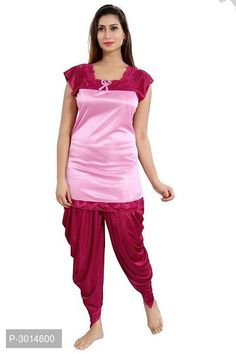 Girls Night Dress, Night Dress For Women, Satin Dresses, Long Dresses, Ethnic Gown, Patiala, Jumpsuit Dress, Lingerie Set, Nightwear