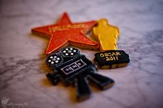 Hollywood themed cookies for movie treats - A Southern Outdoor Cinema movie snack & food idea for outdoor movie events.