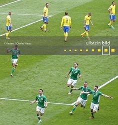 Irland - Schweden 1:1 | Gruppe E in Lyon am 13. Juni 2016