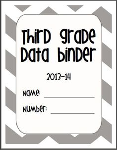 data collection for students. Needs some tweaking Student Data Folders, Student Data Tracking, Data Binders, Student Data Notebooks, Beginning Of The School Year, New School Year, Classroom Organization, Classroom Management, Classroom Ideas