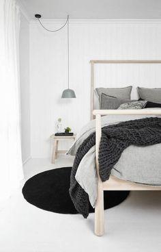 Bedroom Pendant Lights: 40 Unique Lighting Fixtures That Add Ambience To Your Sleeping Space. Scandi bedroom, Scandinavian bedroom, home decor. Cama Ikea, Ikea Bedroom, Home Bedroom, Bedroom Decor, Bedroom Ideas, Bed Ikea, Master Bedroom, Bedroom Inspo, Pendant Lighting Bedroom