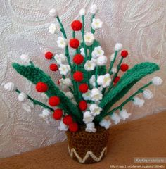 / Cactus, Christmas Wreaths, Christmas Tree, Rubrics, Pansies, Crochet Flowers, Crochet Baby, Knitting, Holiday Decor